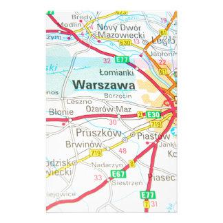 Warshau, Warschau in Polen Briefpapier