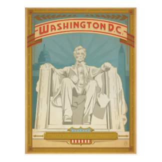 Washington, D.C. - Abe Lincoln Briefkaart