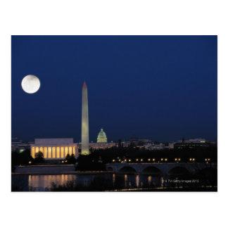 Washington DC bij Nacht Briefkaart