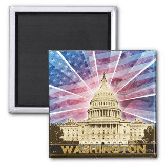 Washington DC Vierkante Magneet