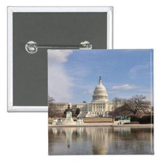 Washington DC Vierkante Button 5,1 Cm