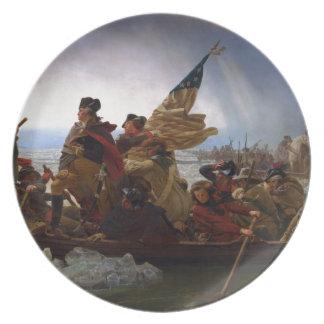 Washington die Delaware kruisen - het Vintage Art. Bord