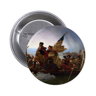 Washington die Delaware kruisen - het Vintage Art. Ronde Button 5,7 Cm