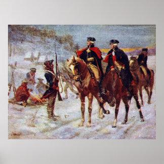 Washington en Lafayette bij Vallei smeden ~ Poster