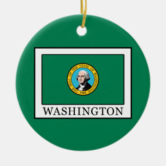 Washington Rond Keramisch Ornament