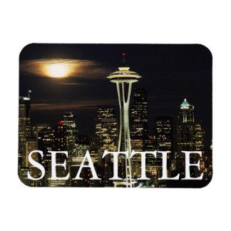 Washington, Seattle, Horizon bij nacht van Kerry 2 Magneet