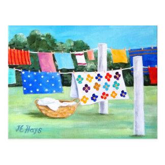 Washline van de oma met het Briefkaart van de
