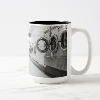 wasserij tweekleurige koffiemok