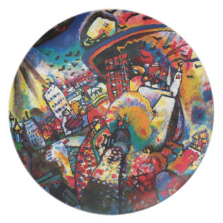 Wassily Kandinsky - Cityscape van Moskou Abstract Bord