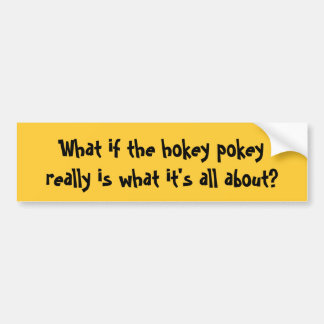 Wat als hokey pokeyreally is wat het al… bumpersticker