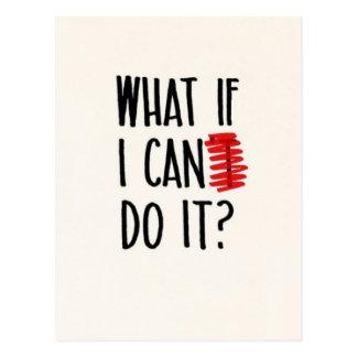 Wat als ik kan niet het doen? Motivatie Briefkaart