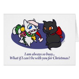 Wat als ik voor Kerstmis bezig ben? Notitiekaart