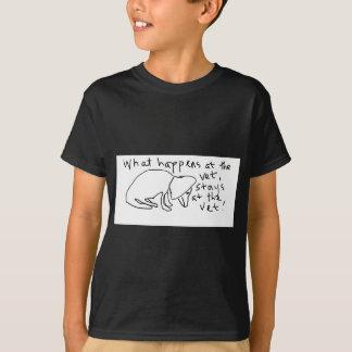 Wat bij de dierenarts gebeurt, blijft bij de t shirt
