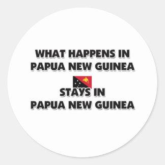 Wat daar in de Verblijven van PAPOEA-NIEUW-GUINEA Ronde Sticker