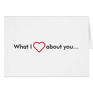 Wat de Liefde van I over u Kaart
