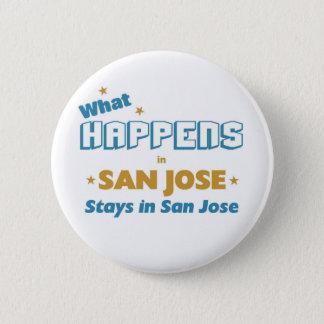 Wat er ook in San Jose gebeurt Ronde Button 5,7 Cm