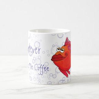 Wat er ook me Kunstwerk van de Vissen van de Koffiemok