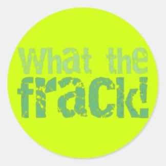 Wat het Ontwerp van de Tekst Frack Ronde Sticker