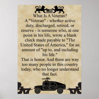 Wat is een veteraan? poster