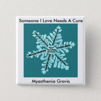 Wat Liefde van I vergt Myasthenia Gravis van de Vierkante Button 5,1 Cm