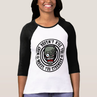 wat niet u doodt maakt u sterker - zombie t shirt