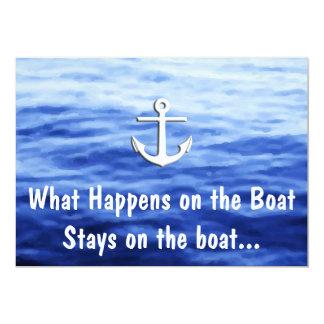 Wat op de boot - Grappig roeien gebeurt 12,7x17,8 Uitnodiging Kaart