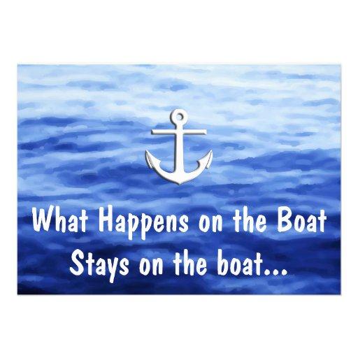 Wat op de boot - Grappig roeien gebeurt Persoonlijke Uitnodigingen