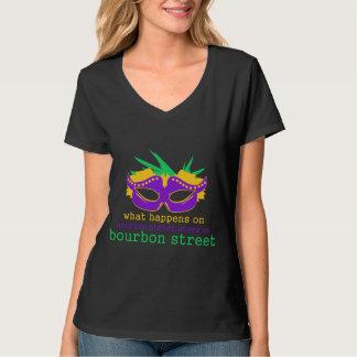 Wat op de Straat van de Bourbon gebeurt T Shirt