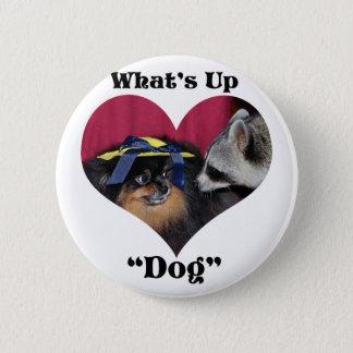 Wat op Hond is Ronde Button 5,7 Cm