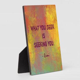 Wat u naar de Typografie van het Citaat Rumi Fotoplaat