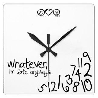 wat vierkante klok