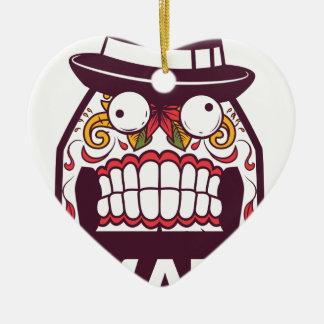 wat wat de enge tanden ontwerpen keramisch hart ornament