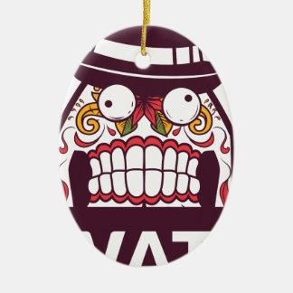 wat wat de enge tanden ontwerpen keramisch ovaal ornament