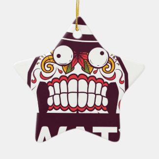 wat wat de enge tanden ontwerpen keramisch ster ornament