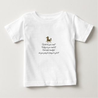 Wat wilt u eenhoorn? baby t shirts