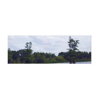 Water en Bomen Canvas Afdrukken