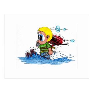 water het ski?en briefkaart
