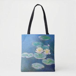 Waterlelies, die Effect door Claude Monet gelijk Draagtas
