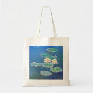 Waterlelies, die Effect gelijk maken door Monet Draagtas