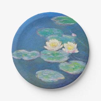 Waterlelies, die Effect gelijk maken door Monet Papieren Bordje