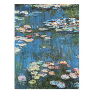 Waterlilies door Claude Monet, Vintage Briefkaart