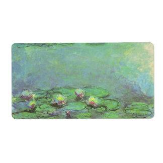 Waterlilies door Claude Monet, Vintage Verzendlabel