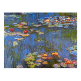 Waterlillies door Claude Monet Briefkaart