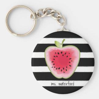 Watermeloen Apple StripesTeacher Sleutelhanger