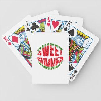 Watermeloen - de zoete zomer pak kaarten