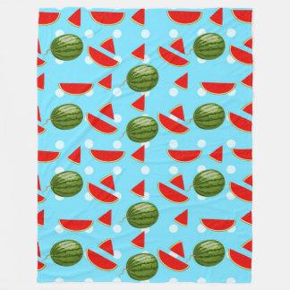 Watermeloen met Plak Fleece Deken