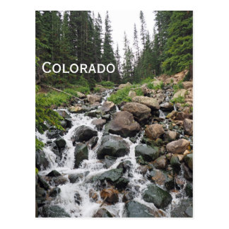 waterval in de bergen van Colorado Briefkaart