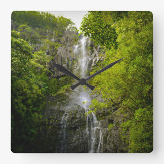 Waterval in Maui Hawaï Vierkante Klok
