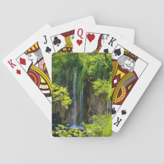 Waterval in Nationaal Park Plitvice in Kroatië Speelkaarten