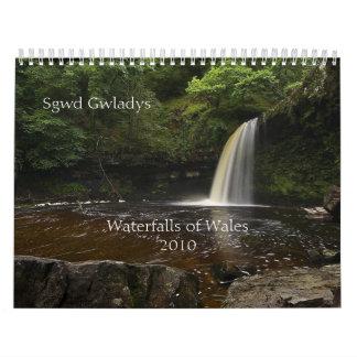 Watervallen van Wales 2010 Kalender